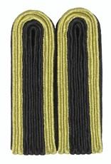 4-streifige Schulterstücke gold/schwarz für Unteroffizier