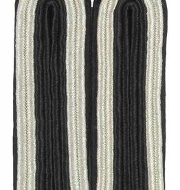 4-streifige Schulterstücke silber/schwarz für Unteroffizier