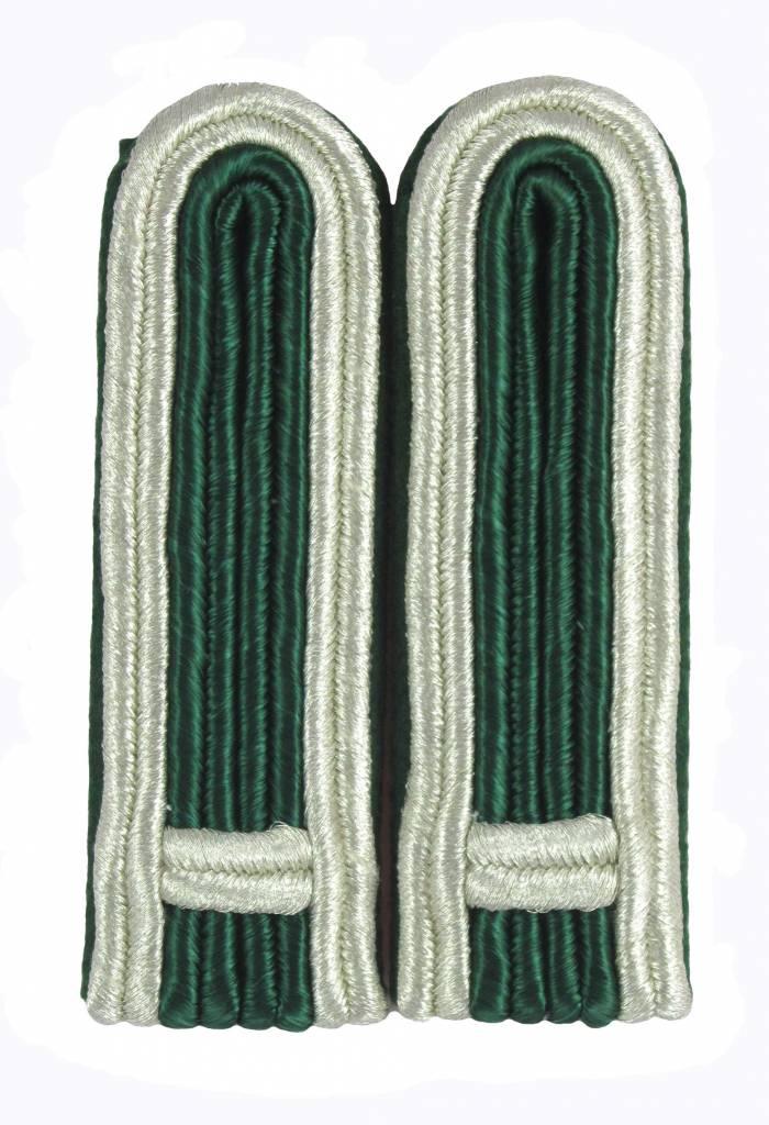 4-streifige Schulterstücke in silber-grün für Feldwebel
