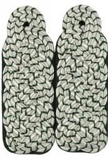 Schultergeflechte - Majorsgeflecht silber mit grün National (Flachschnur)
