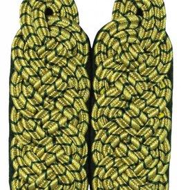 Schultergeflechte - Majorsgeflecht gold mit grün National (Flachschnur)