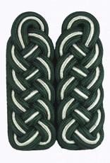 Schultergeflechte grün-silber(Soutache)-grün