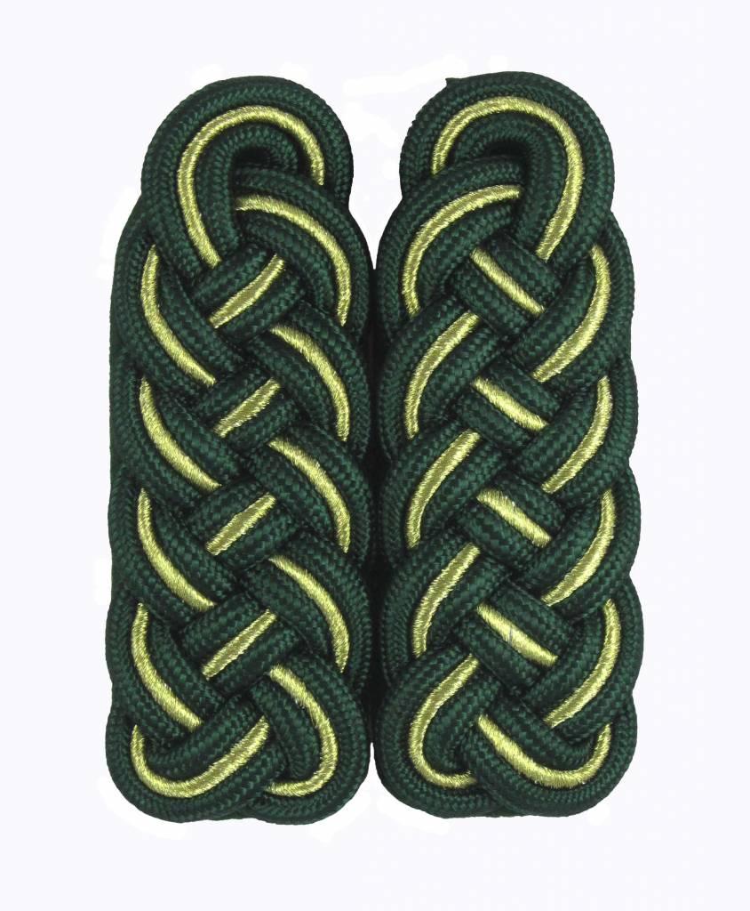 Schultergeflechte grün-gold(Soutache)-grün