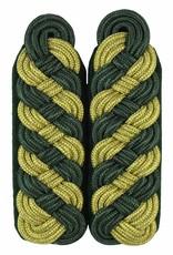 Schultergeflechte - gold/grün (8-bogig)