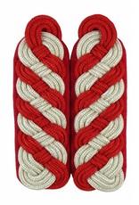 Schultergeflechte - silber/rot (8-bogig)
