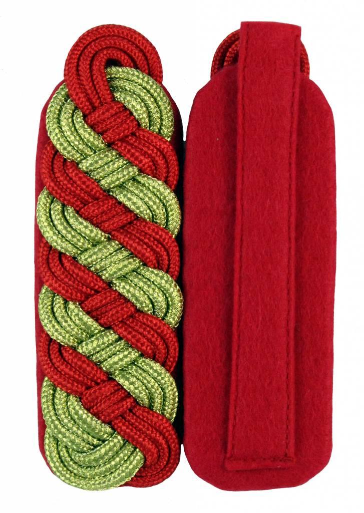 Schultergeflechte - gold/rot (8-bogig)
