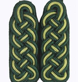 Schultergeflechte grün-gold-grün