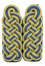 Schultergeflechte - gold/blau/gold