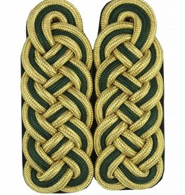 Schultergeflechte - gold/grün/gold