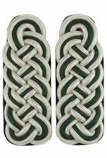 Schultergeflechte - silber/grün/silber