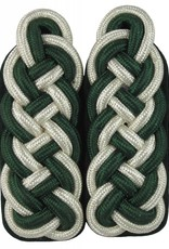 silber-grün Majorsgeflecht - Schultergeflechte