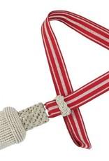 Silber Portepee mit rot/silber Tresse, Schlagband