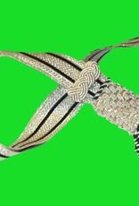 Silber Portepee mit Gestreifer silber Tresse (grosse Ausführung)