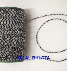 2mm Kordel alu-schwarz