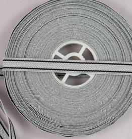 Kaiserreich Tresse aluminium/schwarz 10mm
