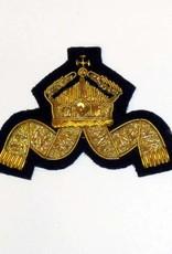 Kaiserliche Marine Mützenabzeichen für Decksoffiziere handgesticktes - Repro