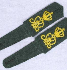 Kaiserreich Schulterklappen feldgrau Leib Kürassier Regiment