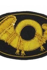 Handgestickte Offizier Hut Abzeichen für Infanterie, Horn