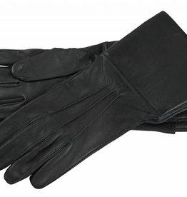 Stulpenhandschuhe aus Schwarz Ziegenleder
