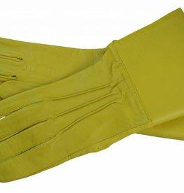 Stulpenhandschuhe aus Beige Ziegenleder