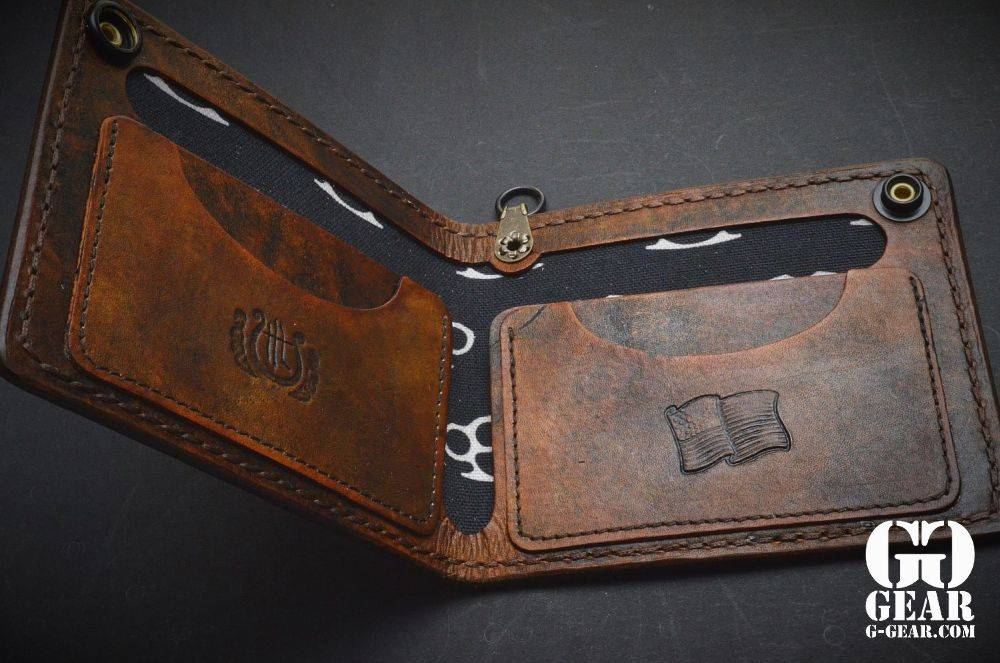 """Harp Leather Harp Leather - Leather Wallet """"The Hammer of Thor II"""""""