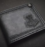 "Harp Leather Harp Leather - Leather Wallet ""The Hammer of Thor II"""