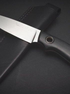 Stuart Mitchell Knives  MuntjaX Black Micarta