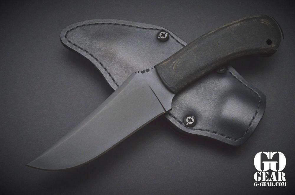 Winkler Knives Winkler Knives -Chrusher Belt Knife - Black Micarta
