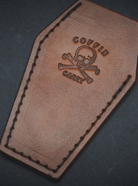 Harp Leather Coffin Carry Brown