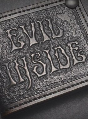 "Harp Leather Leather Wallet ""Evil Inside"""