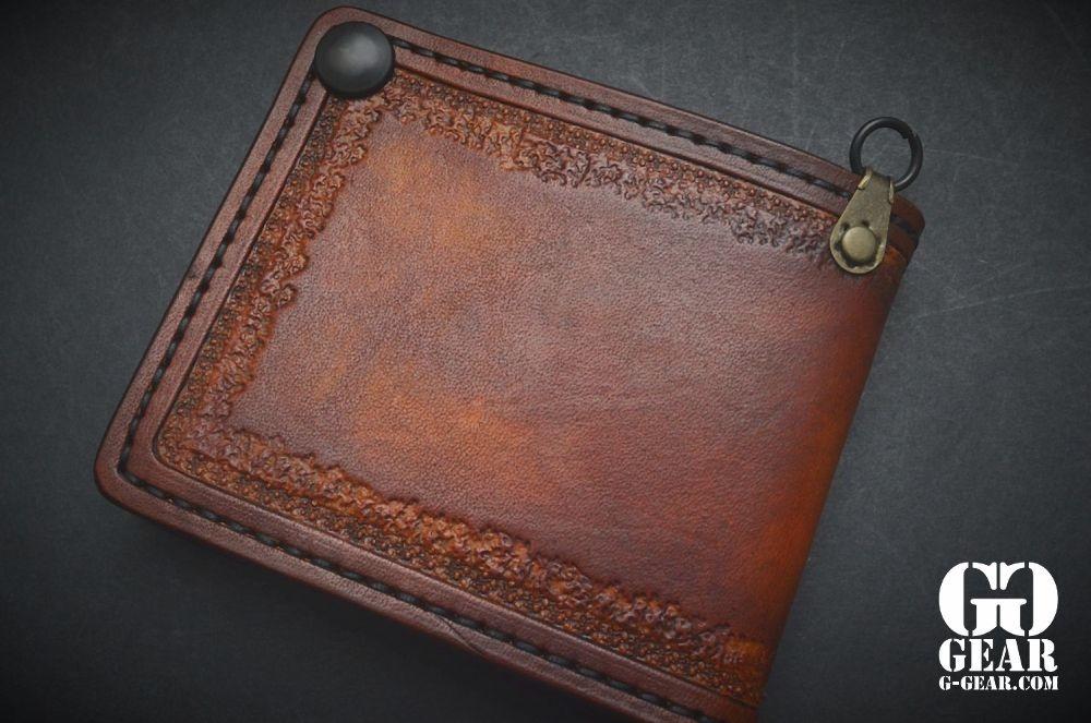 "Harp Leather Harp Leather - Leather Wallet ""Evil Inside"""