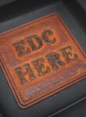 "Harp Leather Leder-EDC-Schale ""EDC Here"""