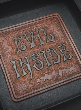 "Harp Leather Leather-EDC-Tray ""Evil Inside"""
