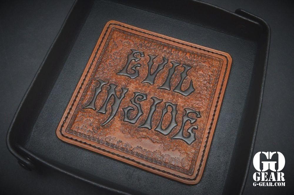 "Harp Leather Harp Leather - Leder-EDC-Tray ""Evil Inside"""