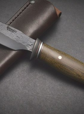 Behring Made Blued OD Micarta Alaskan