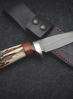 R&N Blades Australia New Design Small Hunter Leather Stack and Premium Sambar
