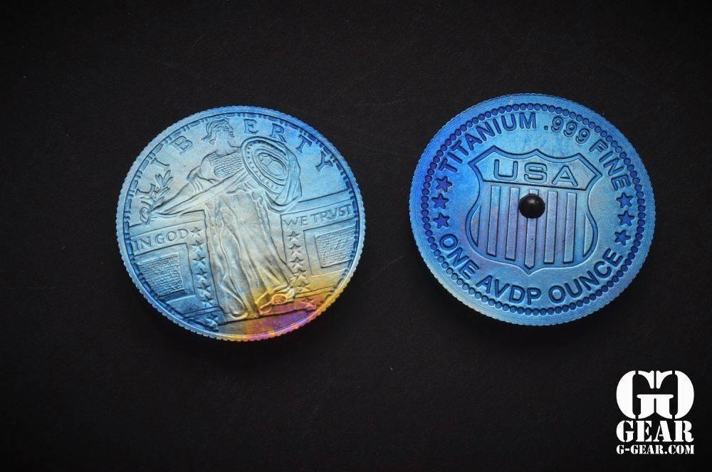 Phoenix Design Pocket Tops - Titanium Spinning Coin