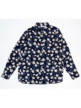 Blouse Flower Blue