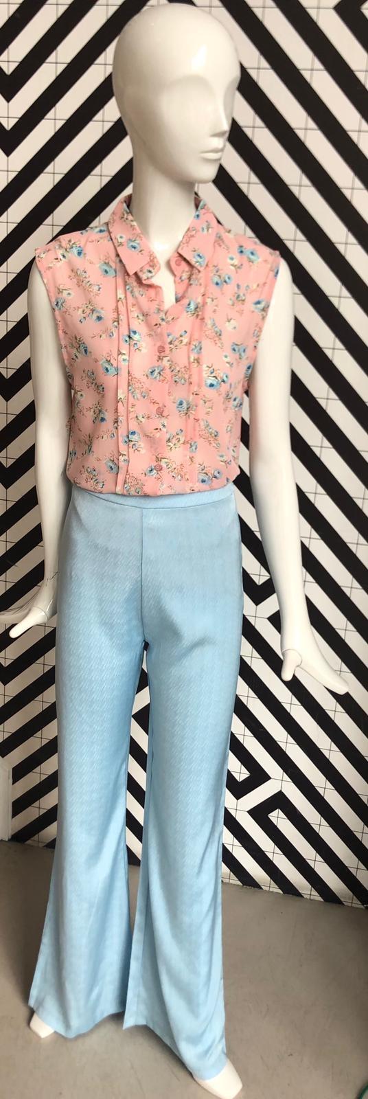 Voyar La Rue Blare flower blouse pink flower