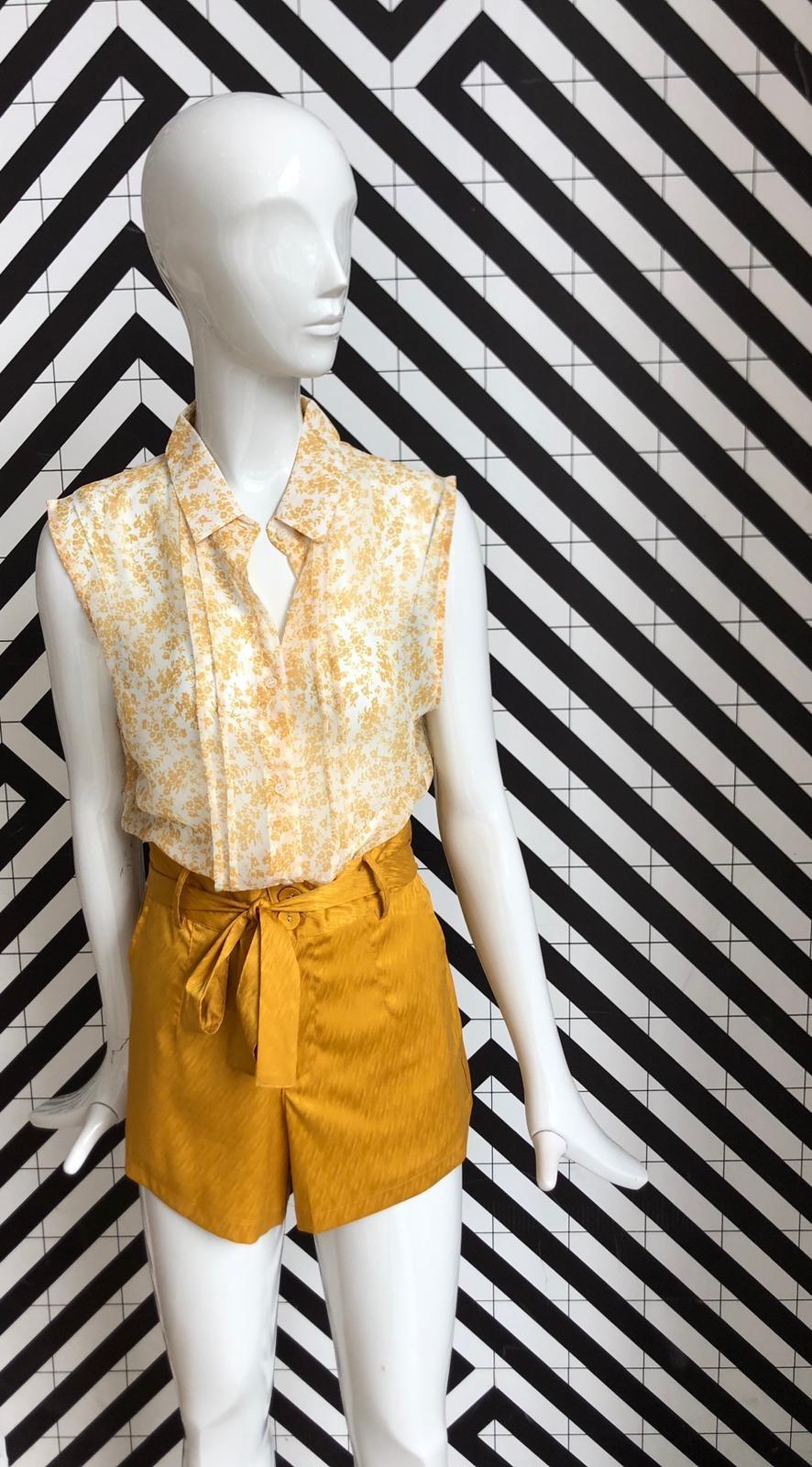 Voyar La Rue Blare flower blouse yellow flower