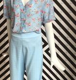 Voyar La Rue Brianna flower blouse blue flower