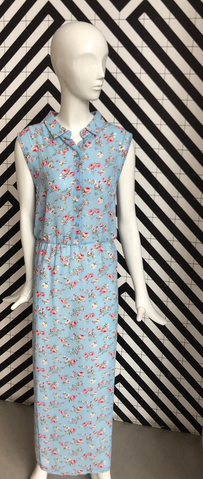Voyar La Rue Didri maxi dress blue  flower