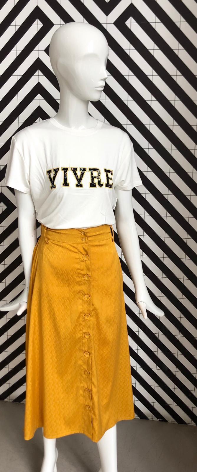 Voyar La Rue Sophia skirt yellow