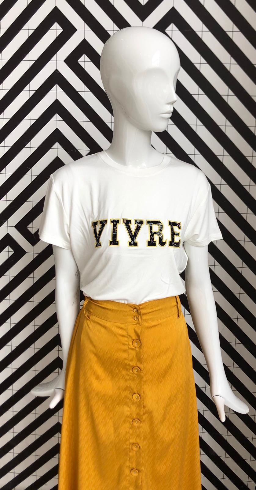 Voyar La Rue Tilda vivre tshirt offwhite