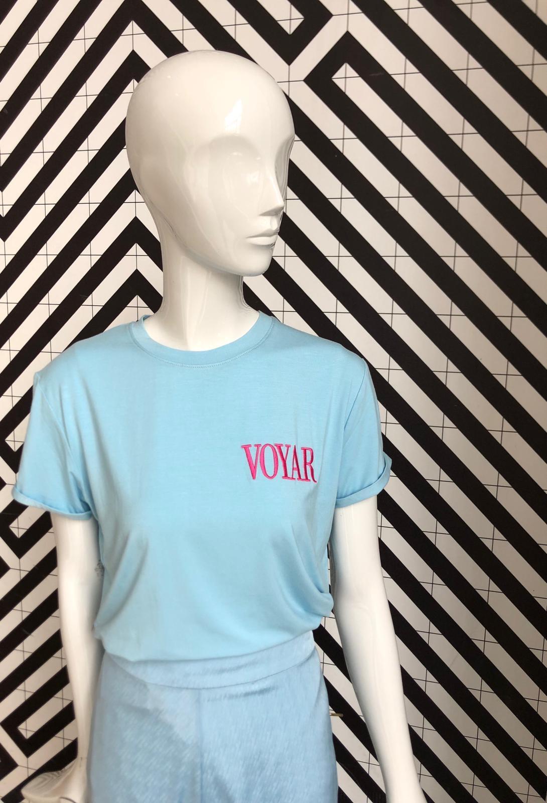 Voyar La Rue Tilda voyar tshirt light blue