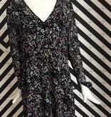 Voyar La Rue Dalia flower dress black flower