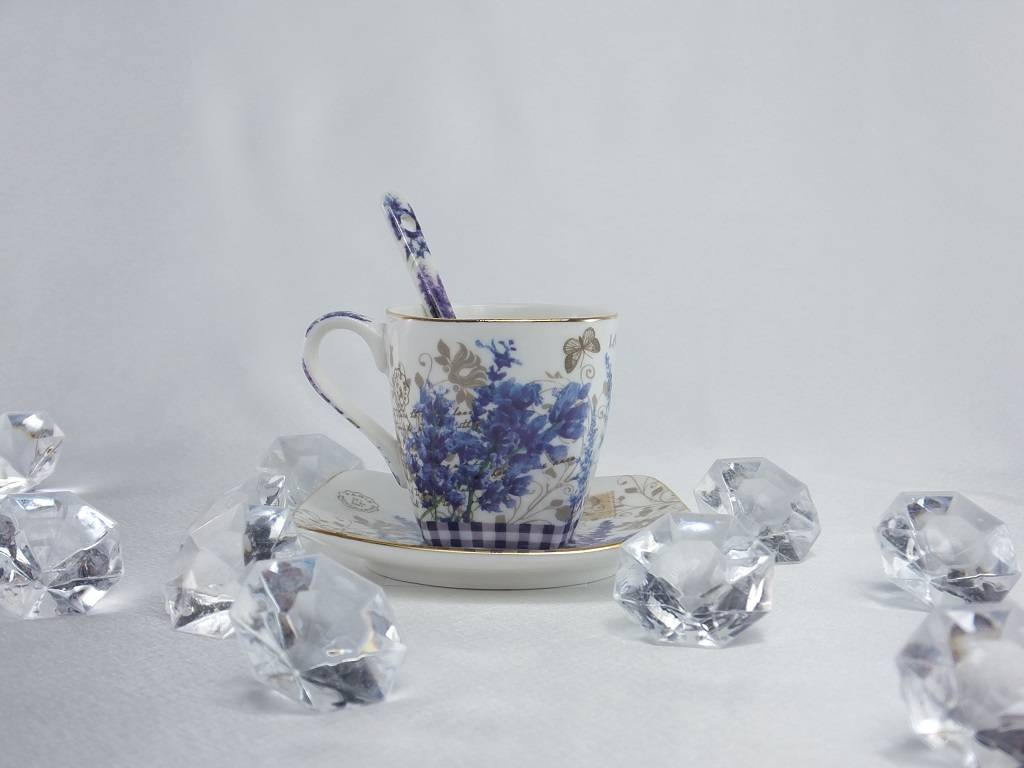 Provence - Espresso Cups & Saucers & Spoons 1B Ware