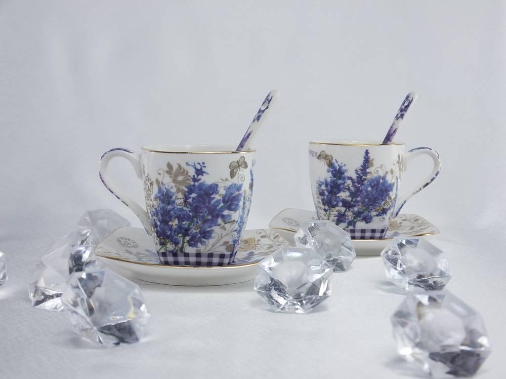 Provence - Espressotassen & Untertassen & Löffelchen 1B Ware