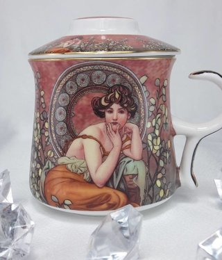 DELUXE by MJS Alfons Mucha -Precious Stones Tasse -1B