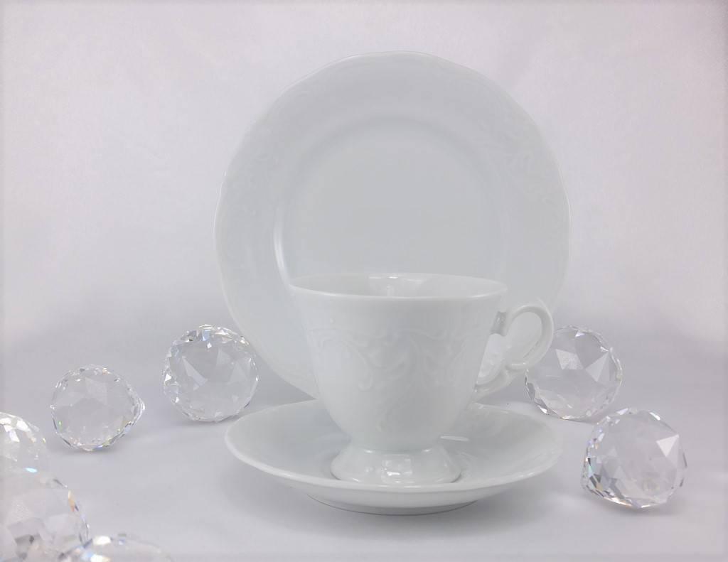 CRISTOFF -1831 Marie - Claire - weiß - Porzellantasse mit Untertasse